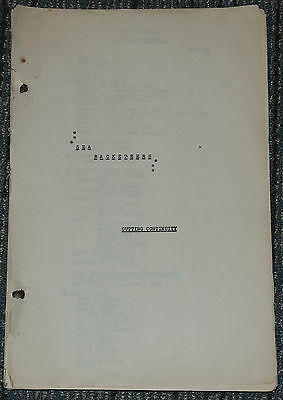 SEA RACKETEERS 1937 ORIGINAL 79 PAGE 14x8 CUTTING CONTINUITY SCRIPT! CRIME/NOIR!