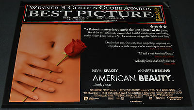 Sam Mendes' AMERICAN BEAUTY 1999 ORIG. 40x30 BRITISH MOVIE POSTER! KEVIN SPACEY!