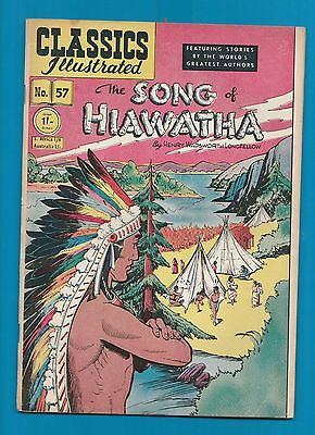 Classics Illustrated Comic Book #57 The Song of Hiawatha by poet Longfellow #712