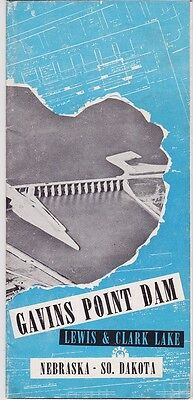 1958 Gavins Point Dam Lewis & Clark Lake Brochure
