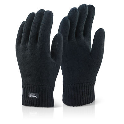 Mens Thermal Thinsulate Knitted Full Finger Gloves Winter Warm Woolly