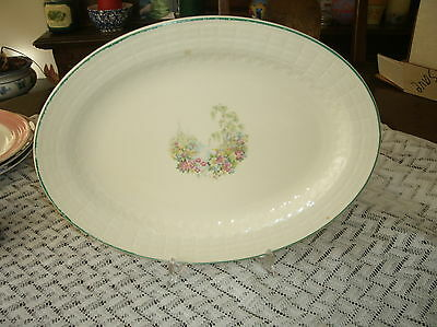 Edwin M. Knowles - Vintage Platter - Flowers, Lake & Tree Pattern