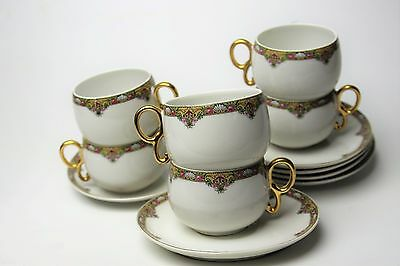 Limoges Elite Works Bawo & Dotter Bwd30 Pretty Set Of 6 Cups & Saucers   Look!!!