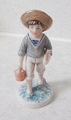 Royal Osborne Figurine Childhood Memories Boy with Bucket & Spade