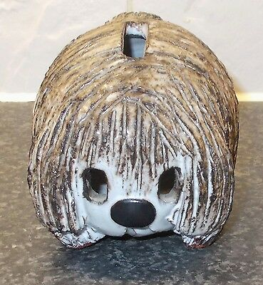 Briglin Studio Pottery Dog Money Box Height 3.5""