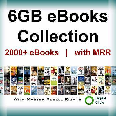 6gb 2000 eBooks (PDF) Collection 40 zip files Minified with Resell Rights