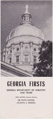 1950's Georgia Historical Firsts Brochure