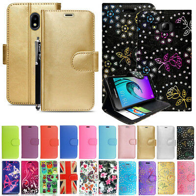 Luxury Leather Wallet Flip Case Cover For Samsung Galaxy J1 J3 J5 J7 Phone 2016