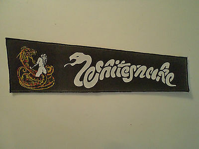 Vintage  WHITESNAKE  80s STRIP BACK PATCH heavy metal metallica wasp dio t shirt