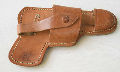 Vintage Collectible Retro Genuine Leather Communist Police Officer's Gun Holster