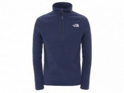 (Large/Youth, Cosmic Blue) - The North Face Unisex Child Glacier 1/4 Zip