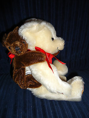 "VERY RARE Merrythought Mohair Bear Jointed 10"" TEDDY BABY BACKPACK OLIVER HOLMES"