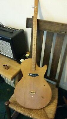 Cooper, 1 string diddley bow Lp style guitar