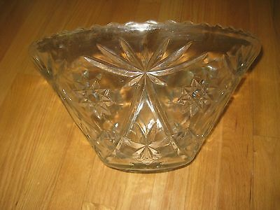 Crystal Punch Bowl 14""