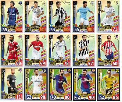 Topps Champions 2018 Club 100 Star Hat Hero Pick Card Match Attax Ronaldo Messi