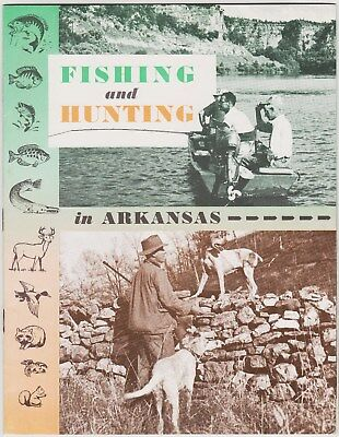 1960's Arkansas Hunting & Fishing Map Booklet