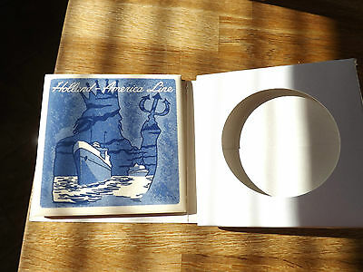 """Holland - America Line Neptune Delft Tile 1/8"""" Thick Nice Condition"""
