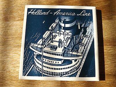 """Holland - America Line Delft Tile 1/8"""" Thick. Very Good Condition"""