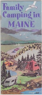 1960's Family Camping In Maine Directory Booklet