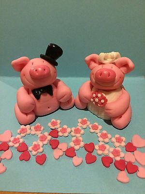 Edible Pigs Wedding Cake Toppers