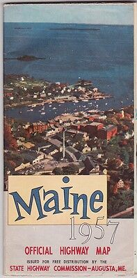 1957 State Issue Official Maine Road Map