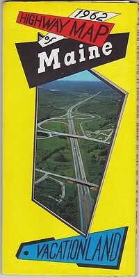 1962 State Issue Official Maine Road Map