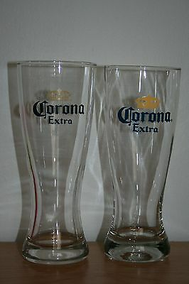 Pair Of Corona Extra Beer Glasses Excellent Condition