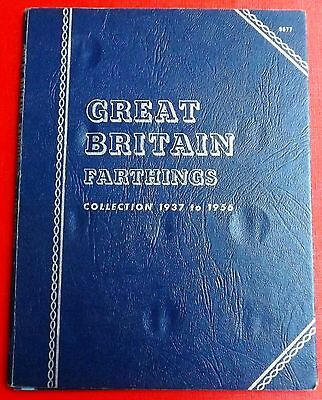 George V1 & Elizabeth Whitman Folder For Farthings 1937 To 1956 All Coins