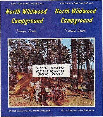 1960's N. Wildwood Campground Cape May Courthouse Brochure