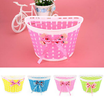 Bicycle Panniers Bike Cycle Bowknot Front Shopping Basket For Children Kids Girl
