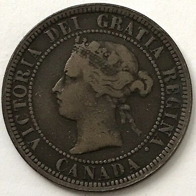 Canada 1881 H Victoria One 1 Large Cent Queen Victoria