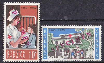 Cyprus - Centenary of Red Cross 1963 MNH specimen ovpt