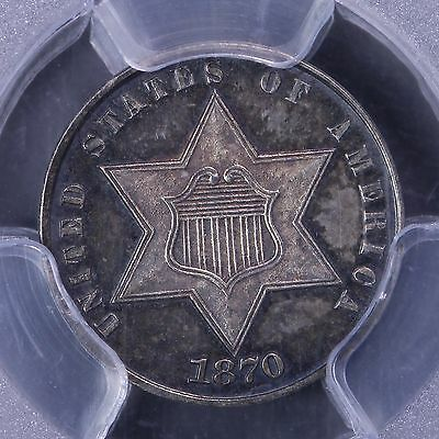1870 3 Cent Silver PCGS PR63 CAM Awesome Coin! 6-11TPNM