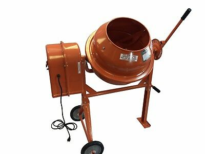 3 1/2 Cubic Ft Portable Solid Steel Stucco Mortar Cement Mixer New Free