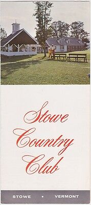 1969 Stowe Country Club Vermont Brochure