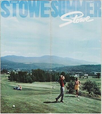 1970 Stowe In Summer Vermont Promotional Brochure