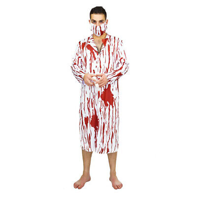 Bloody Doctor Overall Emergency Room Halloween Role Play Fancy Dress Set