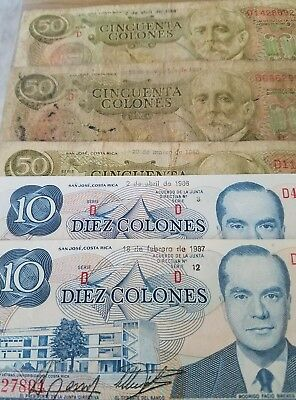 Old Collectible Banknotes- Costa Rica