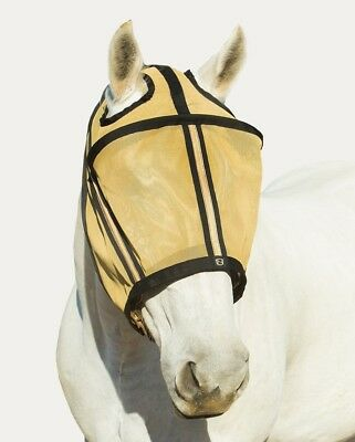 (XXL, Gold) - Noble Outfitters Guardsman No Ear Fly Mask. Huge Saving