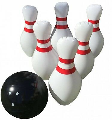 Giant Inflatable Bowling Set - Indoor Outdoor - Jumbo size - 60cm Pins and