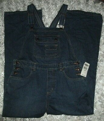NWT Old Navy Bib Overalls Carpenter Farmer Jeans DENIM Coveralls Youth Size 14