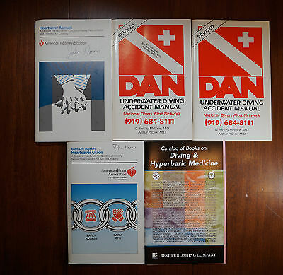 Lot of 5 Diving Emergency Safety Manuals