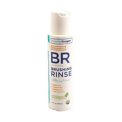 Essential Oxygen Brushing Rinse Peppermint Travel Size (1x90ml). Free Delivery