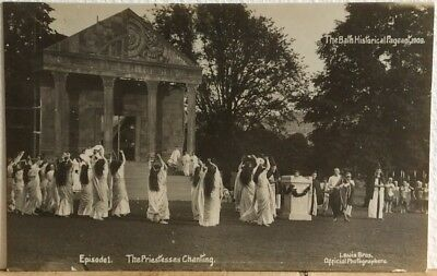 Antique Rppc Bath Historical Pageant Priestesses Chanting Lewis Brothers Som.