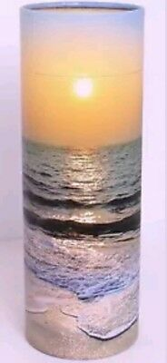 Large Ashes Scattering Tube Urn , Adult funeral biodegrade Scatter Sea Sunset