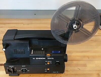 Chinon 2500GL Dual 8mm Super 8 Variable Speed Movie Projector