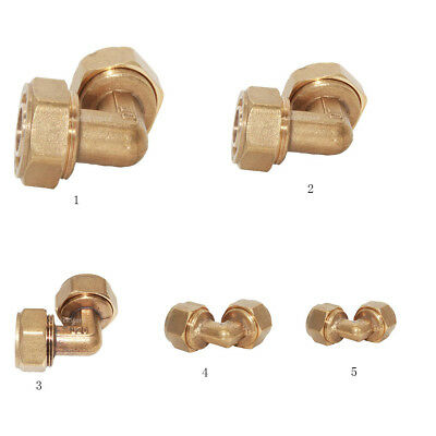 90-Degree Elbow Brass Tube Fitting Compression Female Pipe Connector Adapter