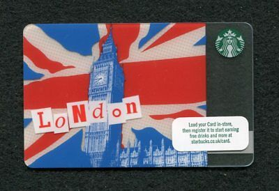 Starbucks LONDON Gift Card with FLAG background (1) Limited edition