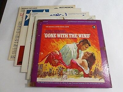 Lot Of 5 Soundtrack Oldies LP Wholesale Gone With The Wind Gunn Vinyl Record