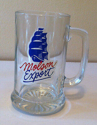 Molson Export Brewery Sailboat Beer Glass
